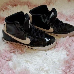 Nike Black and White Hightops